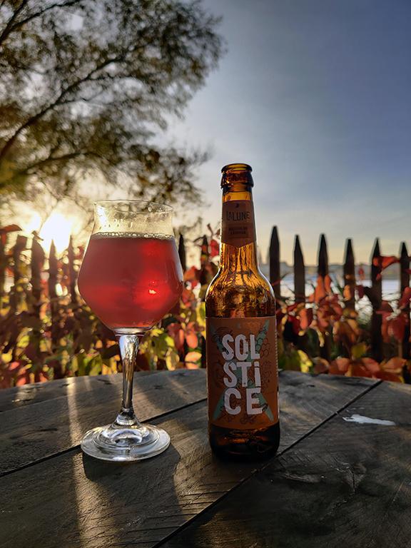 solstice bière d'hiver au miel et aux épices