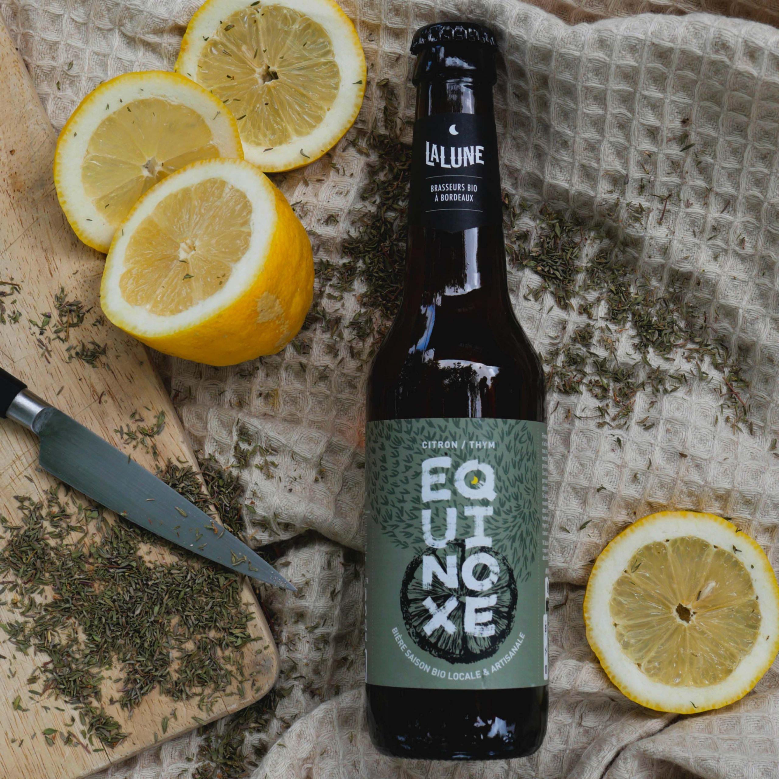 Equinoxe, bière de printemps aux citron et au thym frais